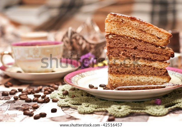 holiday tea with cake
