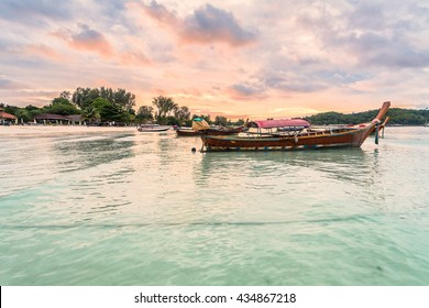 Holiday in Thailand - Beautiful Island of Koh Lipe Sunrise and Sunset by the beach