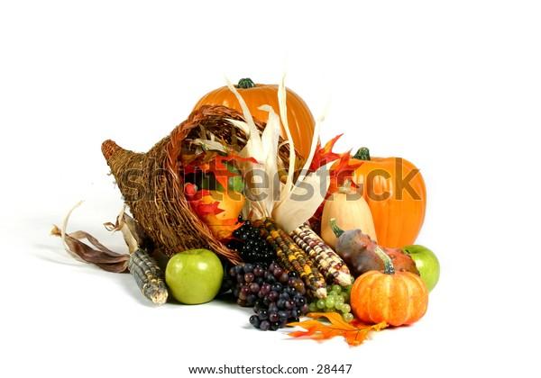 Holiday theme: Thanksgiving cornucopia
