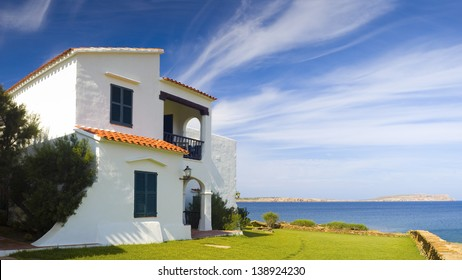Holiday villas on a hot summers day.