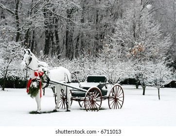 holiday winter scene
