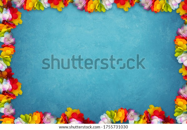 Holidays background with attributes of summer