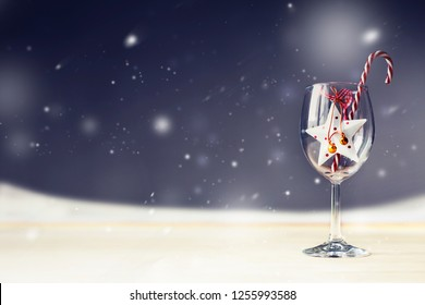 holidays background with christmas decorations