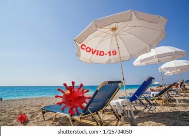 vacances coronvavirus covid-19 protection dans vos vacances d'été par la mer et en plein air