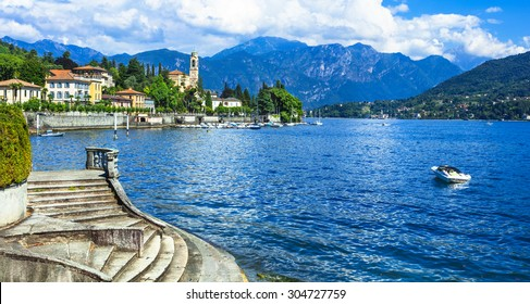 holidays in Italy - beautiful village Tremezzina.  Lago di Como - one of the most beautiful lakes of Europe .