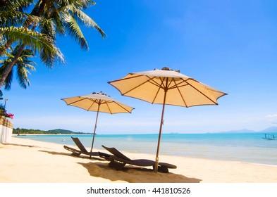 Holidays for two.Maenam beach.Koh Samui.Thailand.