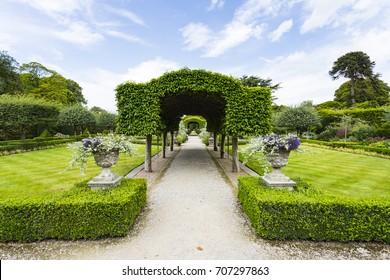 Holker Gardens, Summer Garden, Holker Hall country house near Cartmel, Cumbria, England