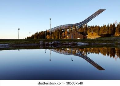 Holkmenkolen ski jump area, Oslo