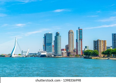 Holland america line and other skyscrapers in Rotterdam, Netherlands