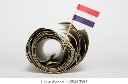Holland flag and folder.