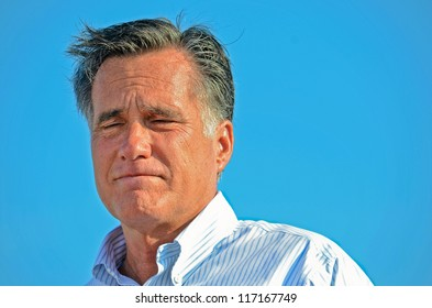 HOLLAND, MICHIGAN - JUNE 19, 2012: Mitt Romney campaign rally at Holland State Park, June 19, 202 in Holland, Michigan.