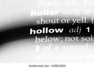 hollow word in a dictionary. hollow concept.