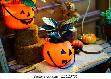 holloween plastic pumpkin, use for decoration with tree