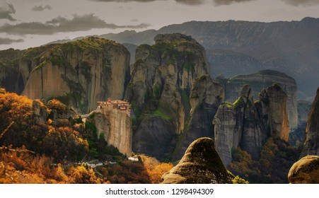 The Holly rocks of Meteora Greece
