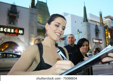 """HOLLYWOOD -APRIL 11, 2011:Actor Neve Campbell at the premiere of the movie """"Scream 4"""" at Grauman's Chinese Theatre April 11, 2011 Hollywood, CA."""