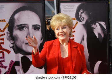 HOLLYWOOD - APRIL 12 2012: Actor Debbie Reynolds walks the red carpet for the opening of  the TCM Classic Film Festival at Grauman's Chinese Theatre April 12, 2012 Hollywood, CA.