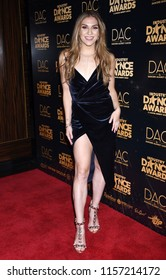 HOLLYWOOD - AUG 15:  Allison Holker arrives to the 2018 Industry Dance Awards  on August 15, 2018 in Hollywood, CA