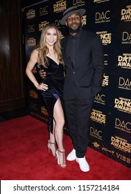 HOLLYWOOD - AUG 15:  Allison Holker and Stephen Boss, tWitch  arrives to the 2018 Industry Dance Awards  on August 15, 2018 in Hollywood, CA