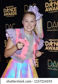 HOLLYWOOD - AUG 15:  Jojo Siwa arrives to the 2018 Industry Dance Awards  on August 15, 2018 in Hollywood, CA