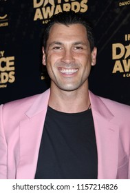 HOLLYWOOD - AUG 15:  Maks Chmerkovskiy arrives to the 2018 Industry Dance Awards  on August 15, 2018 in Hollywood, CA