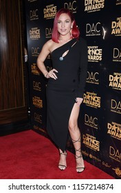 HOLLYWOOD - AUG 15:  Sharna Burgess arrives to the 2018 Industry Dance Awards  on August 15, 2018 in Hollywood, CA