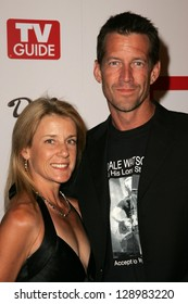 HOLLYWOOD - AUGUST 27: James Denton and wife Erin at the TV Guide Emmy After Party at Social August 27, 2006 in Hollywood, CA.