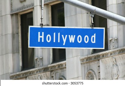 Hollywood Boulevard Metal Sign