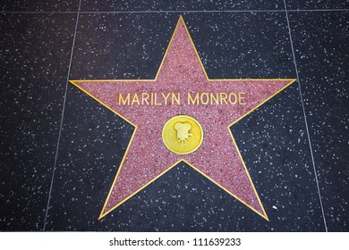 HOLLYWOOD, CA - AUG 11:  Marilyn Monroe star on the Hollywood Walk of Fame in Hollywood, California on Aug. 11, 2012.  Marilyn Monroe was honored with a star in 1960.