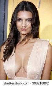 HOLLYWOOD, CA - AUGUST 20, 2015: Emily Ratajkowski at the Los Angeles premiere of 'We Are Your Friends' held at the TCL Chinese Theatre in Hollywood, USA on August 20, 2015.