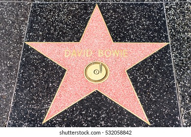 HOLLYWOOD, CA - DECEMBER 06: David Bowie star on the Hollywood Walk of Fame in Hollywood, California on Dec. 6, 2016.