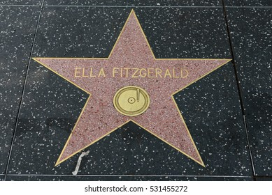 HOLLYWOOD, CA - DECEMBER 06: Ella Fitzgerald star on the Hollywood Walk of Fame in Hollywood, California on Dec. 6, 2016.