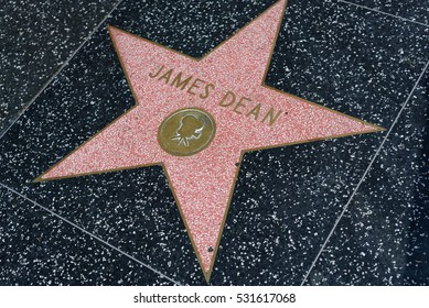 HOLLYWOOD, CA - DECEMBER 06: James Dean star on the Hollywood Walk of Fame in Hollywood, California on Dec. 6, 2016.