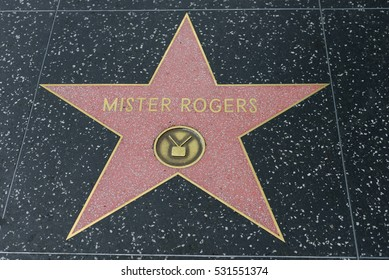 HOLLYWOOD, CA - DECEMBER 06: Mister Rogers star on the Hollywood Walk of Fame in Hollywood, California on Dec. 6, 2016.