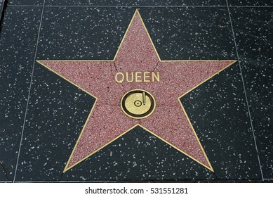 HOLLYWOOD, CA - DECEMBER 06: Queen star on the Hollywood Walk of Fame in Hollywood, California on Dec. 6, 2016.