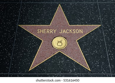 HOLLYWOOD, CA - DECEMBER 06: Sherry Jackson star on the Hollywood Walk of Fame in Hollywood, California on Dec. 6, 2016.