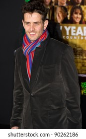 """HOLLYWOOD, CA - DECEMBER 5: Actor and singer Joey McIntyre arrives at the premiere of """"New Year's Eve"""" at Grauman's Chinese Theater on December 5, 2011 in Hollywood, California"""