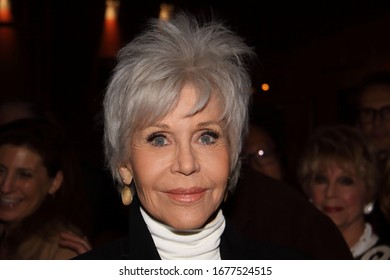 HOLLYWOOD, CA – FEBRUARY 15, 2020: Jane Fonda at a screening on February 15, 2020 at the Egyptian Theatre in Hollywood, CA.