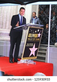 HOLLYWOOD CA- JANUARY 25, : Talk show host Jimmy Kimmel at Walk of Fame ceremony where he received his star January 25, 2013 Hollywood, CA.