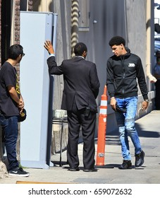 HOLLYWOOD CA - JUNE 12, 2017: NBA prospect Lonzo Ball is at the Jimmy Kimmel studio for an appearance on Jimmy Kimmel Live! June 12, 2017 Hollywood, CA.