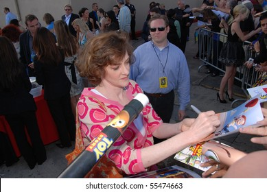 HOLLYWOOD, CA - JUNE 13: Actress Joan Cusack at the World Premiere of Disney/Pixar's 'Toy Story 3' on June 13, 2010 at the El Capitan Theatre in Hollywood, California.