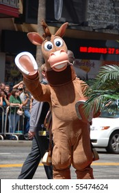 "HOLLYWOOD, CA - JUNE 13: Toy Story Character ""Bullseye"" at the World Premiere of Disney/Pixar's 'Toy Story 3' on June 13, 2010 at the El Capitan Theatre in Hollywood, California."