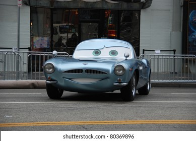 "HOLLYWOOD, CA- JUNE 18: Character Finn McMissile arrives at Disney's Pixar ""Cars 2"" premiere, held at El Capitan Theatre, June 18, 2011 in Hollywood,CA."
