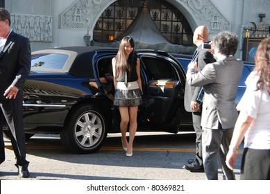 "HOLLYWOOD, CA- JUNE 18: Singer Kashiyuka from Japanese band ""Perfume"" attends the Disney's Pixar ""Cars 2"" premiere, held at El Capitan Theatre, June 18, 2011 in Hollywood,CA."