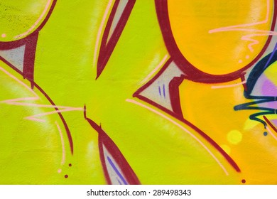 HOLLYWOOD, CA - JUNE, 20 2015: Colorful graffiti lettering on the side of an old weathered building. Graffiti can sometimes express social and political views or messages.