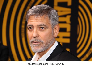 HOLLYWOOD, CA - MAY 07, 2019: George Clooney at the premiere of CATCH-22 on May 7, 2019 at the TCL Chinese Theatre in Hollywood, CA.