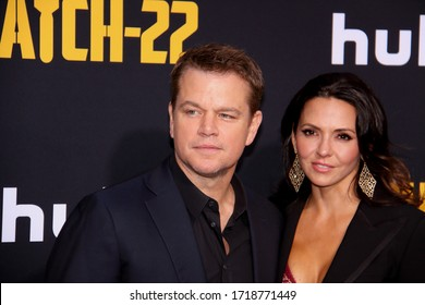 HOLLYWOOD, CA - MAY 07, 2019: Matt Damon at the premiere of CATCH-22 on May 7, 2019 at the TCL Chinese Theatre in Hollywood, CA.