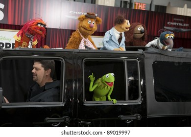 HOLLYWOOD, CA - NOVEMBER 12: The Muppets attend the Premiere Of Walt Disney Pictures' 'The Muppets' at the El Capitan Theatre on November 12, 2011 in Hollywood, California.