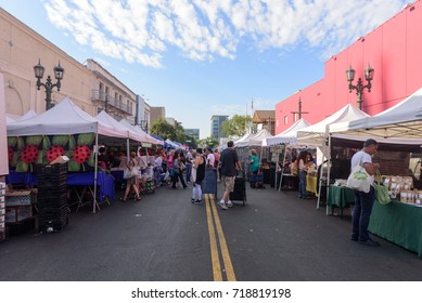 HOLLYWOOD, CA - September 10:  The Hollywood Farmers' Market in Los Angeles is an outdoor street market with produce and goods from local farmers, ranchers and vendors on September 10, 2017