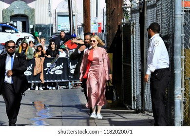 HOLLYWOOD CA - SEPTEMBER 13, 2018: Actress Cate Blanchett spotted at the Jimmy Kimmel studio September 13, 2018 Hollywood CA.