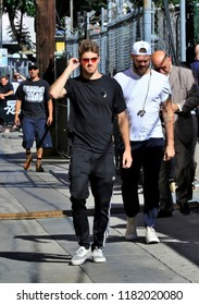 HOLLYWOOD CA - SEPTEMBER 13, 2018: The band The Chainsmokers spotted at the Jimmy Kimmel studio September 13, 2018 Hollywood, CA.